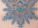 Eiskristall in blau metallic, Silber, Glimmer und Schmuckstein