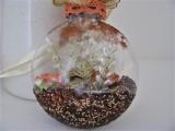 Medaillon braun | creme | gefüllt | floral
