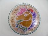 Medaillon aus Acryl mit Einhorn-Motiv transparent | bunt