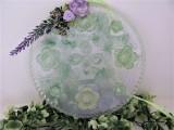 Deko | Fenster| rund | grün | Blüten