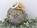 Medaillon zink | hellgold im Vintage - Stil